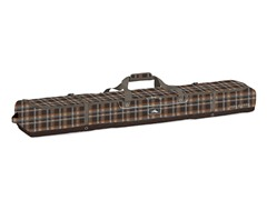 Deluxe Double Ski Bag - Plaid/Espresso