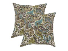 Paisley 17x17 Pillows - Chocolate - Set of 2