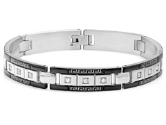 Stainless Steel Two-Tone Link Bracelet