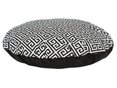 "Towers Black 36"" Round Pet Bed"