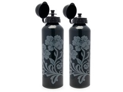 Gaiam Vintage Glam Charcoal Aluminum Bottle 2-Pack