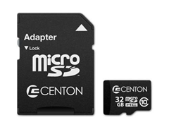 Centron 32GB Class 10 microSD Card w/ Adapter