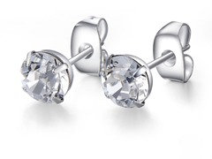 Signature Crystal Earrings, 6 mm