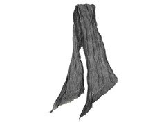 Global Color Layered Frayed Edge Scarf, Grey