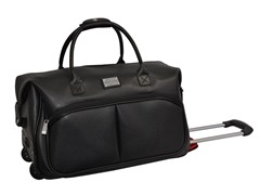 Faux Leather Rolling Laptop Case