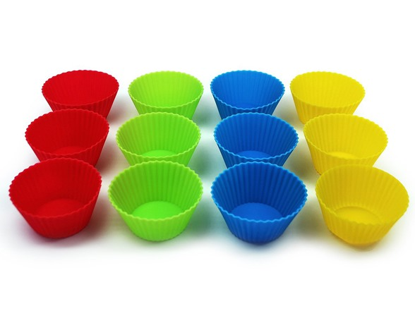 how to use silicone cupcake molds in microwave