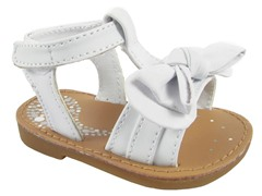 White Sandal with Bow (Toddler 5-10)