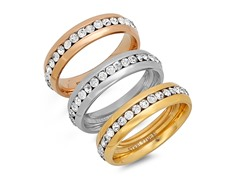 Stackable 3 Ring Band Set