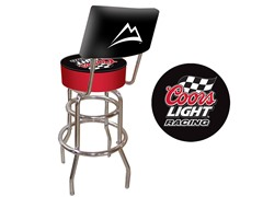 Coors Light Racing Padded Stool w/ Back