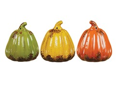 "6.5"" Small Pumpkins Set of 3"