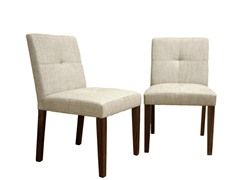 Soave Cream Fabric Dining Chair Set of 2