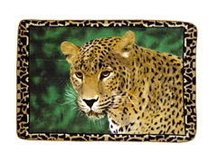 Hi Pile Printed 60x80 Throw-Leopard