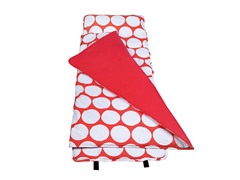 Big Red & White Dots Nap Mat