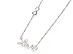 Swarovski Element Love Infinity Necklace