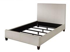 Mambo Upholstered Panel Bed Ivory (3 Sizes)