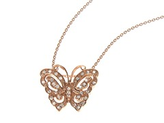 18kt Rose Gold Plated Butterfly Necklace