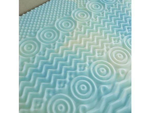 Gel Textured Memory Foam Topper