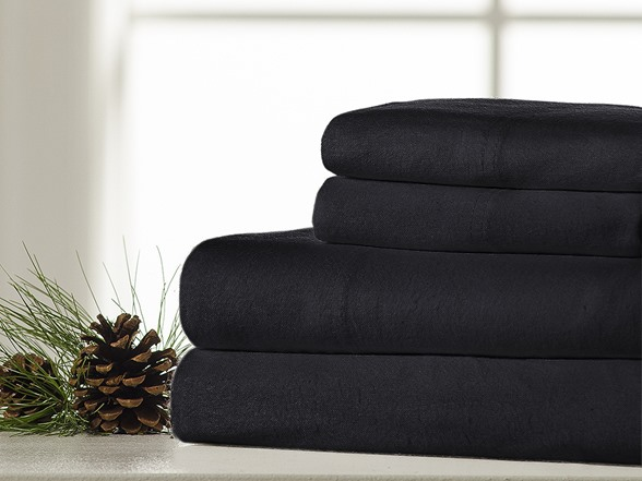 Image of 100% Cotton Flannel 4-piece Ultra Cozy Sheet Set