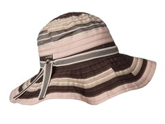 Narcissus Ribbon Sun Hat, Cocoa