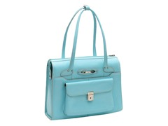 Wenonah Leather Ladies Briefcase - Aqua