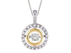 "ZKS Designs ""Dancing"" Diamond Double Circle Pendant"