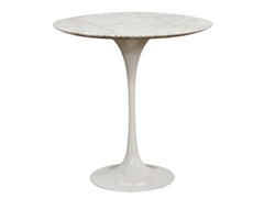 Immer White Marble End Table