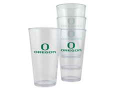 Oregon Ducks Plastic Pint Glasses 4-Pk