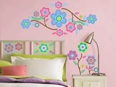 Cutsie Blooms Wall Decals