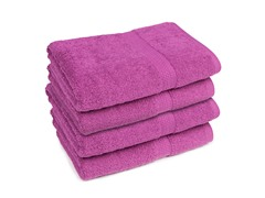 Contempo 4-Pack Bath Towel-Purple Wine