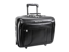 "Lasalle Wheeled 17"" Laptop Overnight w/ Briefcase"