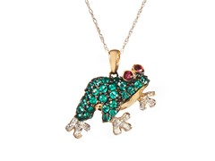 10kt Gold & Diamond Frog Pendant