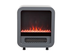 Silver Electric Fireplace