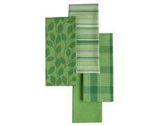Basics Dishtowels-Set of 4-Grass Green
