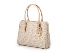 Michael Kors Jet Set Medium Work Tote,White PVC