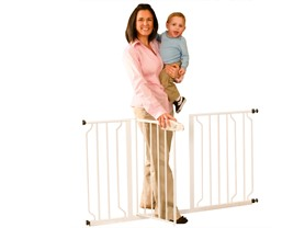 Regalo Home Décor Wide Walk-Thru Gate - 3 Finishes