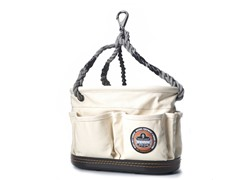 Canvas 22-Pocket Oval Bucket with Rope