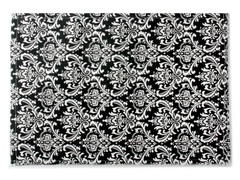 Small Damask Placemat S/4-Black