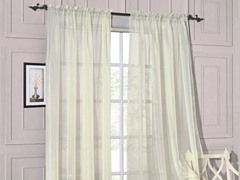 Set of 2: Luxurious Sheer Panels Ivory