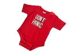 "Wry Baby Bodysuit - ""Don't Panic"""