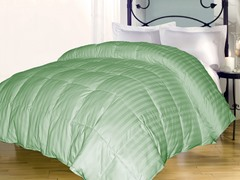 Stripe Down Alternative Comforter-Sage-3 Sizes
