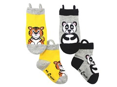 2-Pk Socks - Tiger & Panda