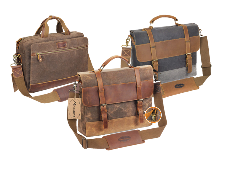 Vintage Canvas/Leather Messenger Bags