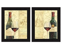 Wine Passion 2PC Set Framed 13x16