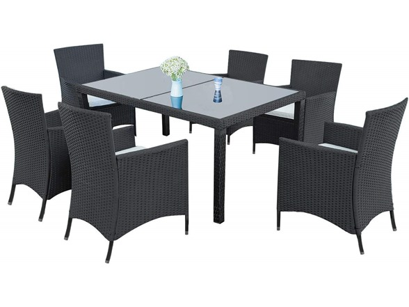 Awe Inspiring Outdoor Rattan Dining 7 Piece Set 349 99 Free Shipping For Prime Members Short Links Chair Design For Home Short Linksinfo