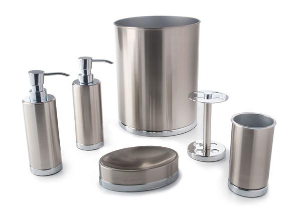 Maddox Piece Brushed Nickel Bath Set