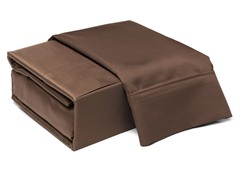 800TC 100% Cotton Sheets-Mocha- Queen