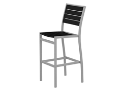 Euro Bar Chair, Silver/Black