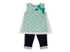 2-Piece Green Capri Set (12-24 Months)