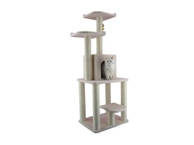 "62"" Cat Tree Furniture Condo - Ivory"