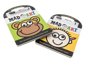 2-Pack of Mad Art Books (Funny Faces & Wacky Animals)